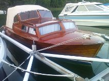 Swedish Mahogany Boat