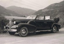 Cadillac 1939 on tour in Sweden