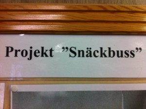 buss projekt snäckbuss skylt