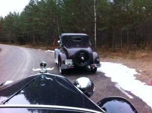 Längs vägen Ford A Cabriolet