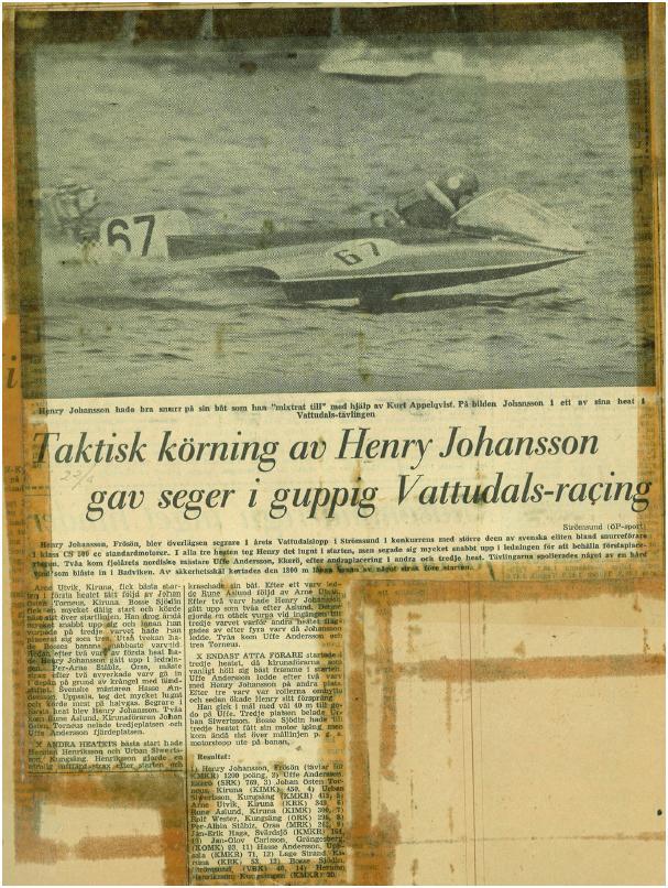 hnery Johansson Frösön segrare i vattudaö
