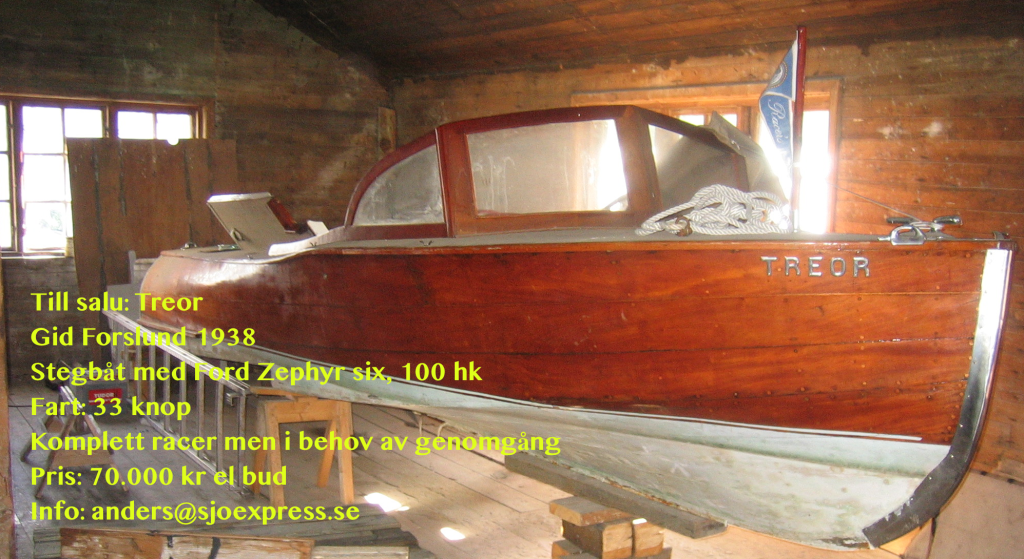 Gideon Forslund Racer 1938 for sale 33 knots