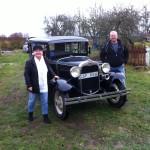 Nettan & Jörgen med sin nya A-Ford