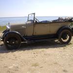A-Ford Phaeton 1928 at the beach of Gotland Sweden